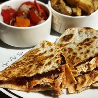 Syn Free Mexican Shredded Chilli & Lime Chicken Quesadillas, Crispy Potatoes & Chunky Salsa Recipe