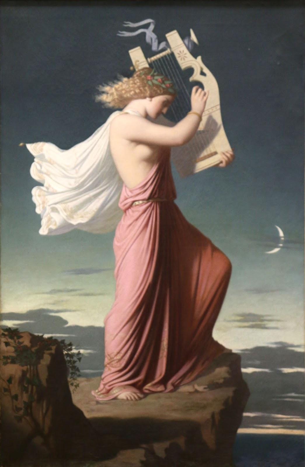 Léopold Burthe (1823-1860), Sappho jouant de la Lyre - 1849