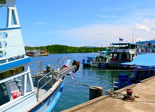 Surin Island pier south of Ranong