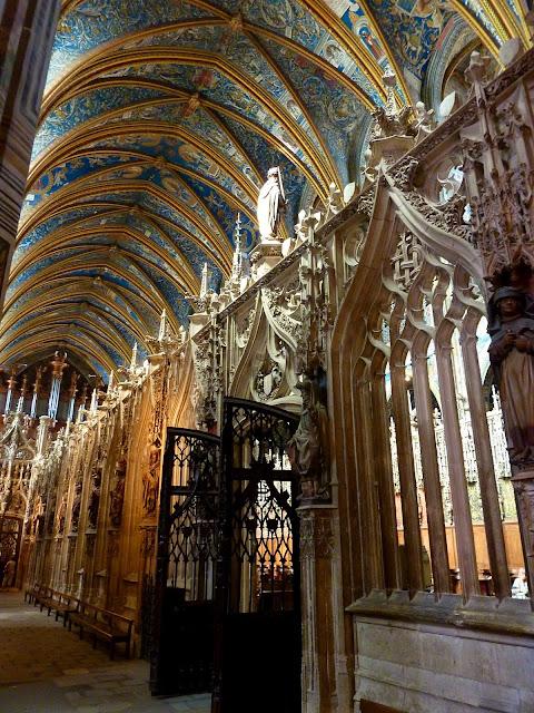 Interior. Deambulatorio de la Catedral de Albi