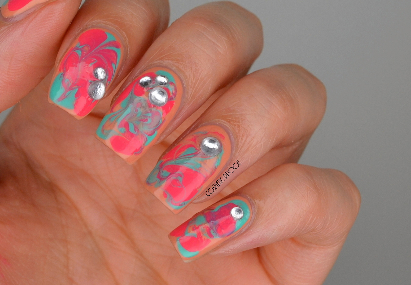 Nails Bcd Nail Art Challenge Week 13 Dry Water Marble With The