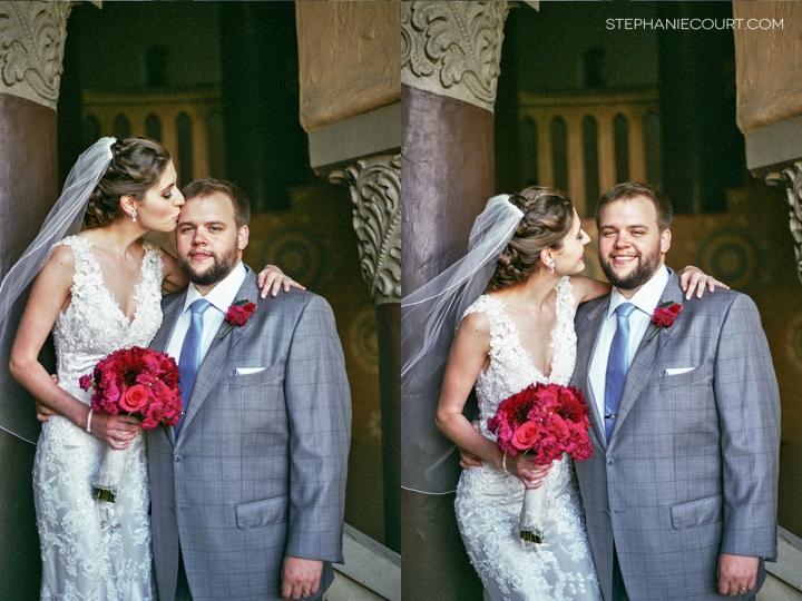 """bride and groom portraits on film"""