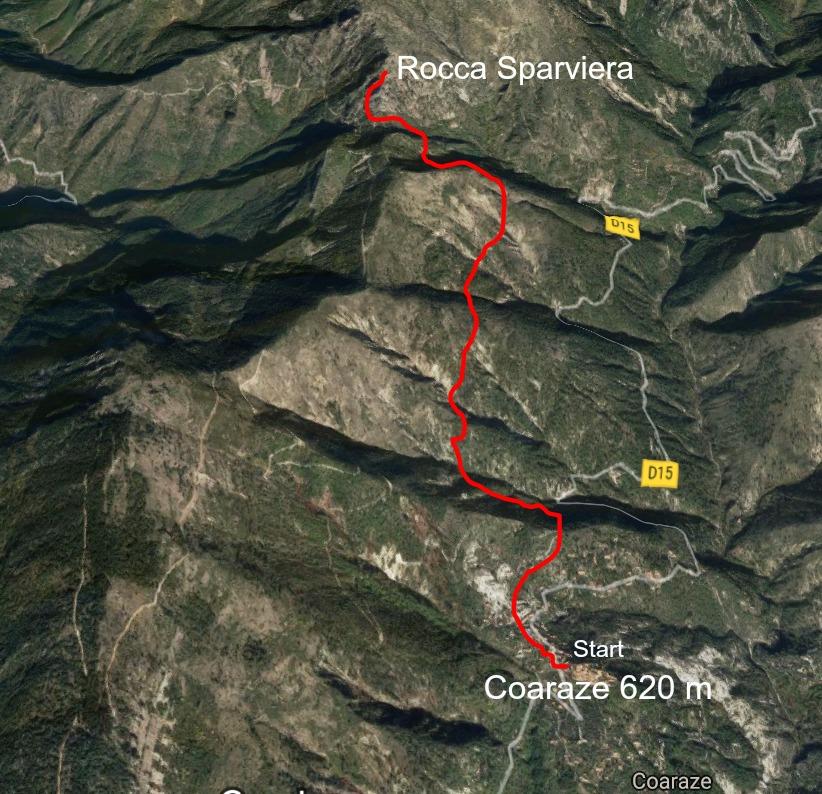 Rocca Sparviera trail image