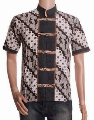 kemeja pria untuk kerja motif batik