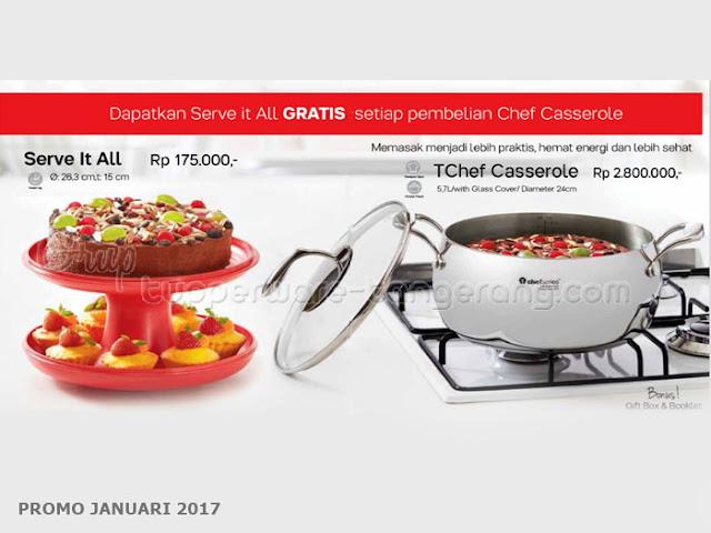 TChef Casserole Promo Tupperware Januari 2017