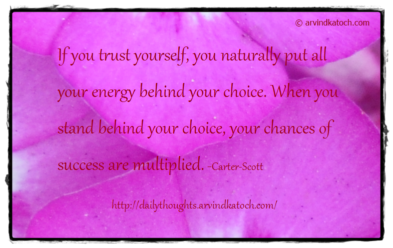 Daily Thought, Quote, Trust, Success, energy, Cater Scott,