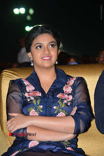 Actress Keerthi Suresh Stills in Blue Long Dress at Nenu Local Audio Launch  0022.JPG