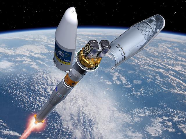 Suposto lançamento de satélites feita em computador