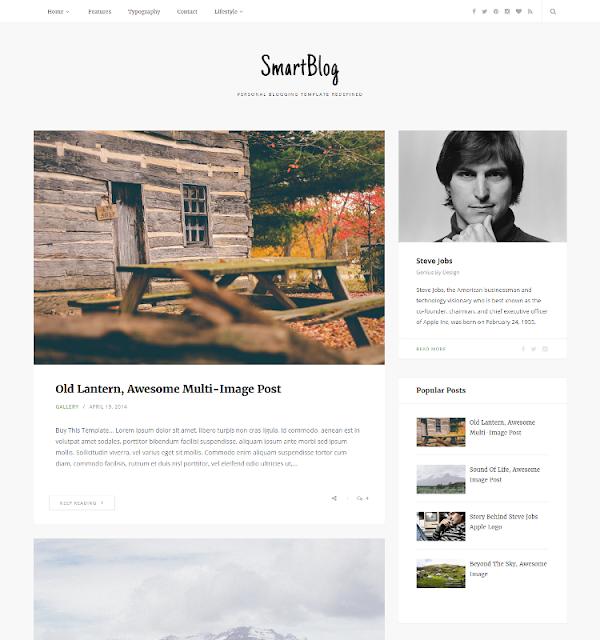 SmartBlog - Personal Blogger Template