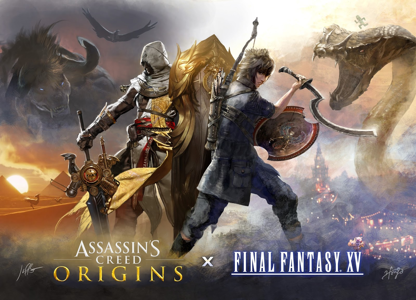 Anuncian espectacular colaboración entre Assassin's Creed y Final Fantasy XV