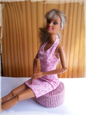 Pouf pour poupée Barbie