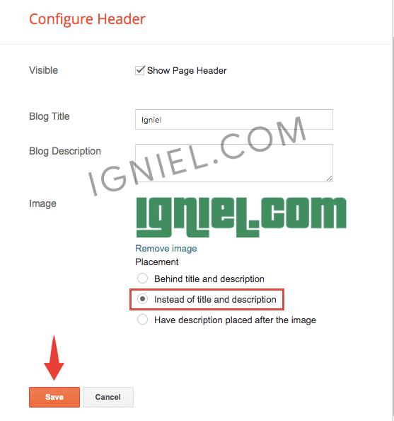 Cara Pasang Gambar Logo di Header Blogspot