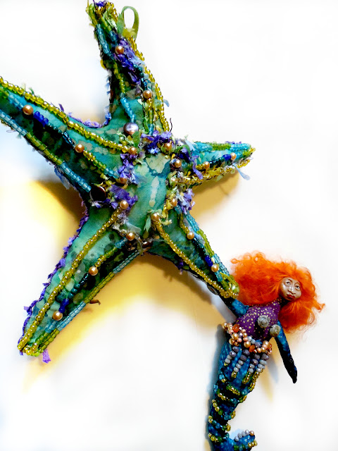 Starfish and Mermaid Beaded Art Dolls