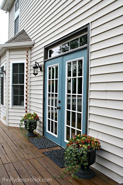 Blue exterior doors