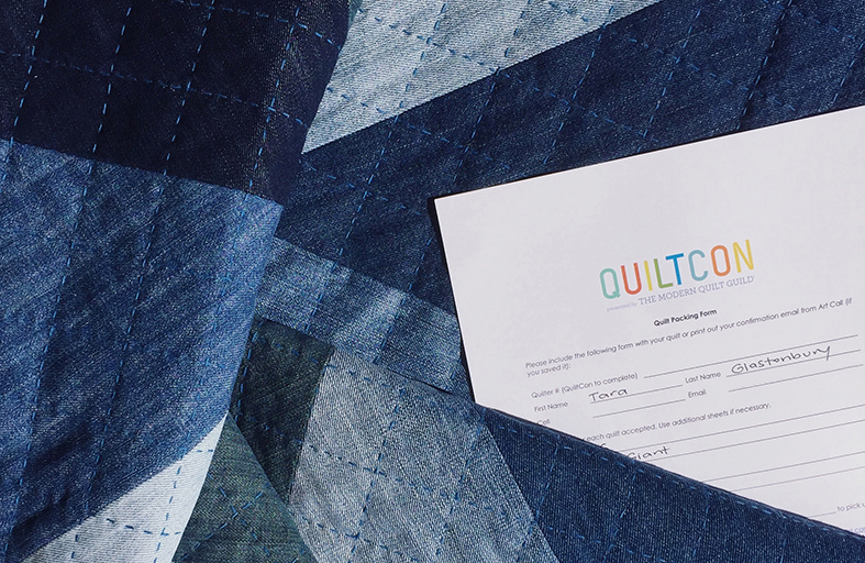 Blue giant denim quilt pattern