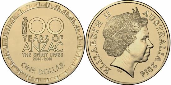 Australia 1 Dollar 2017 Anzac Centenary
