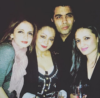 Sussanne Khan with Karan Johar and others