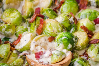 Brussels Sprouts in Alfredo Sauce