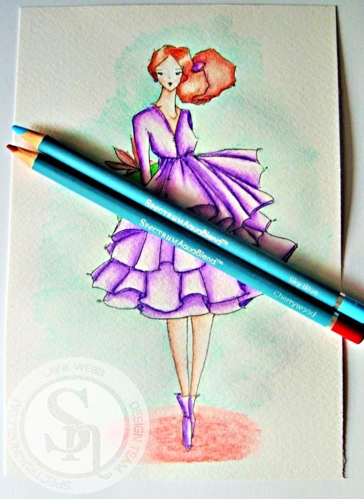 dream laine spectrum noir aquablend watercolor pencil tutorial