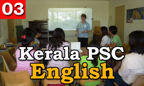 Kerala PSC - Model Questions English - 03
