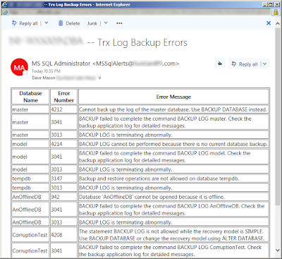 SQL Server - TSQL Error Handling With Extended Events - Email Alert