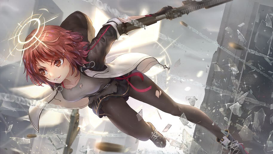 Exusiai, Arknights, Anime, Girl, 4K, #6.531