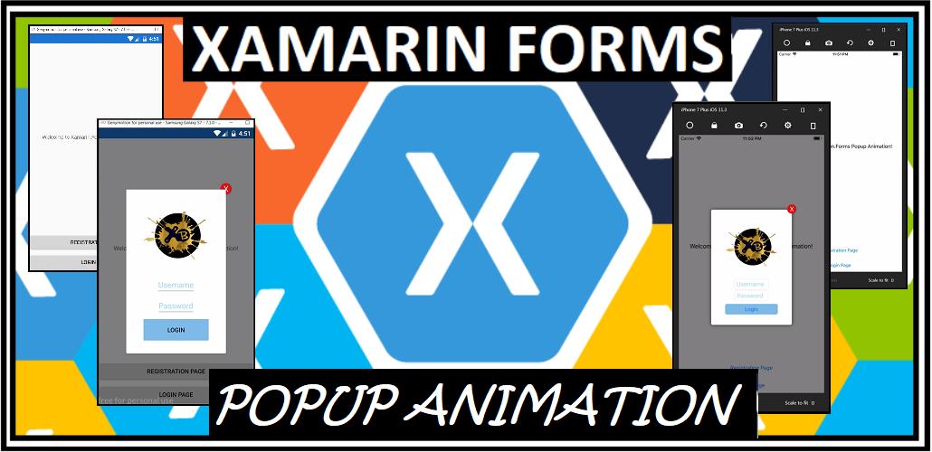 Xamarin Buddy }: XF Popup Animation