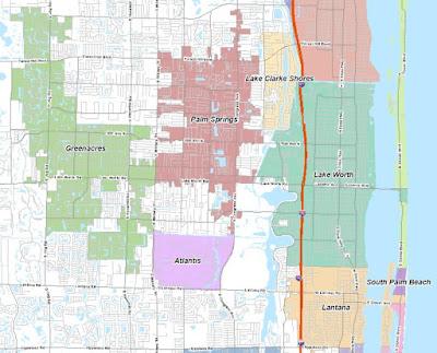 Lake Worth Florida Map.Lake Worth City Limits Notes News Reviews Unique To City