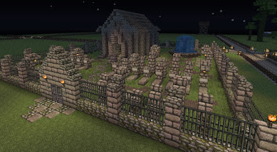 cool things to build in minecraft graveyard