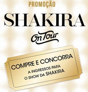 Cadastrar Promoção Shakira Perfumes On Tour 2017 Ingressos Guitarra