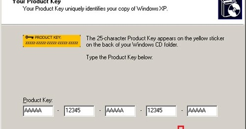 where is windows xp activation key