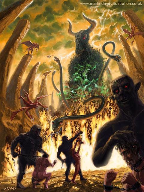 sacrifices in hell illustration artwork Martin Davey