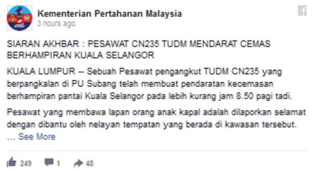 Kisah Sebenar Pesawat TUDM Terhempas di Kuala Selangor