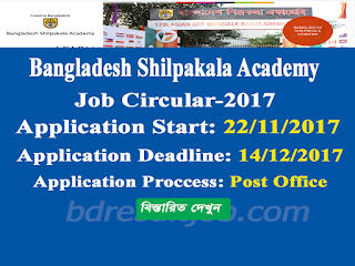 Bangladesh Shilpakala Academy Job Circular 2017