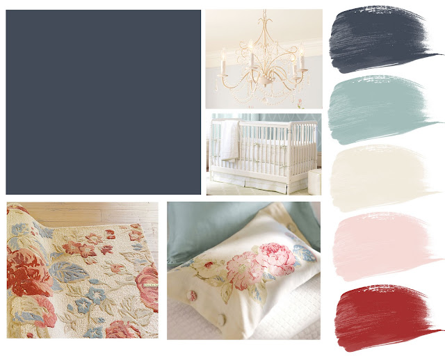 Collecting Lovely Inspiration Board Hague Blue Nursery