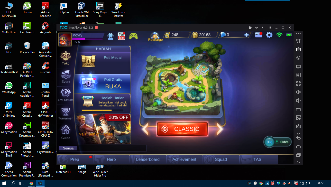 Emulator android nox player 6.0.5.3
