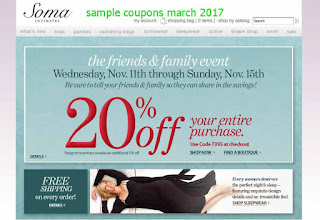 Soma Intimates coupons march 2017