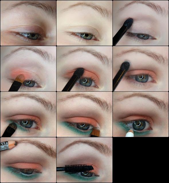 makijaż , aliexpress, makeup , make u p , metamorfoza , blog, kosmetyki, revolution, farbki do brwi , wiosenny makijaż , wiosna  , wiosenny , tutorial