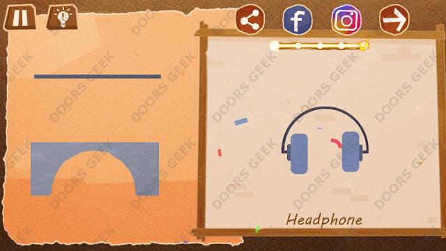 Chigiri: Paper Puzzle Novice Level 7 (Headphone) Solution, Walkthrough, Cheats