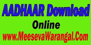 Aadhaar Card Download Online