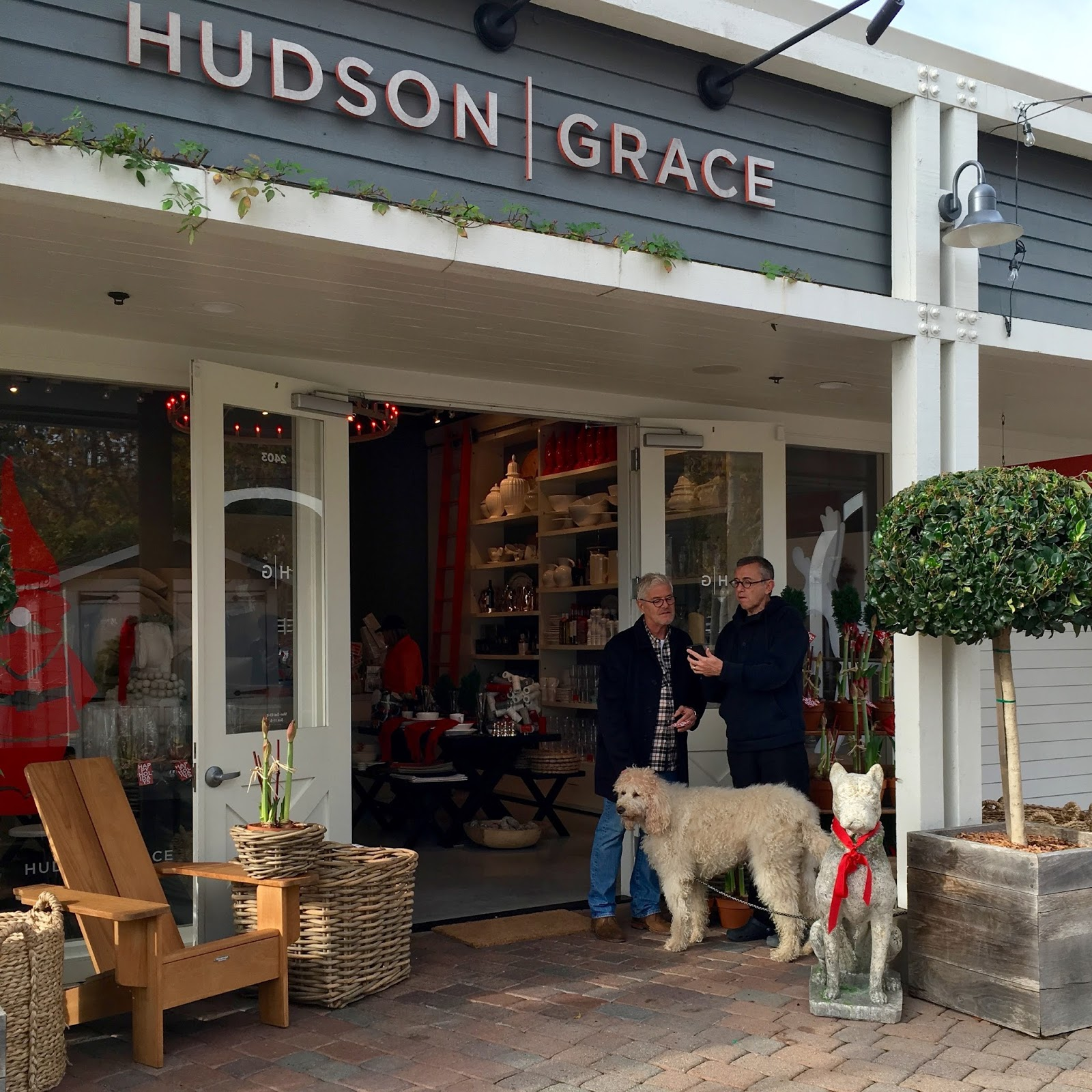 Gary McNatton and Paul Wiseman talking shop while Hudson stands by. Photos  - Kirsten Honeyman 30c1976386