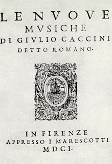 The title page of Caccini's collection Le Nuove Musiche, published in 1601
