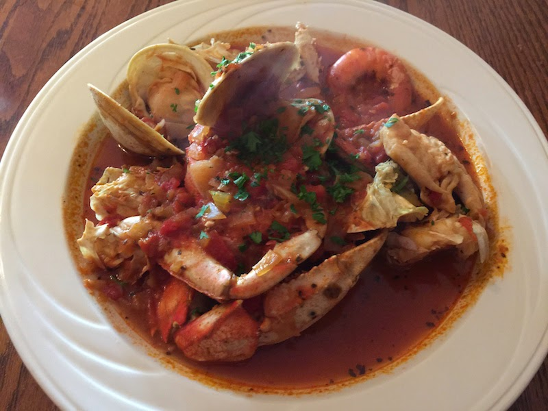 Crab cioppino at Duarte's Tavern