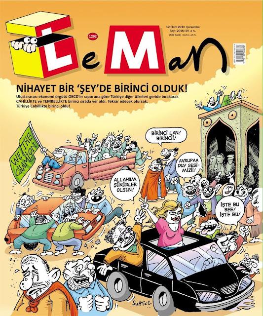 Leman Dergisi | 12 Ekim 2016 Kapak Karikatürü
