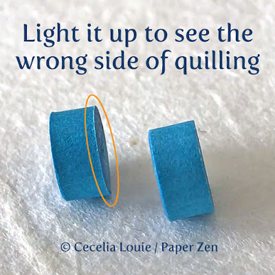 How to find the Right and Wrong Sides of Quilling Paper - Wrong Side