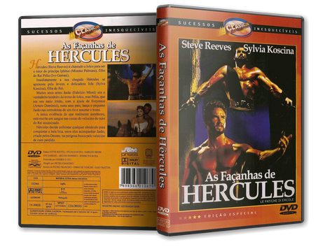Capa DVD As Façanhas de Hercules