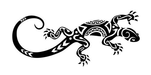 dibujo de lagarto maori