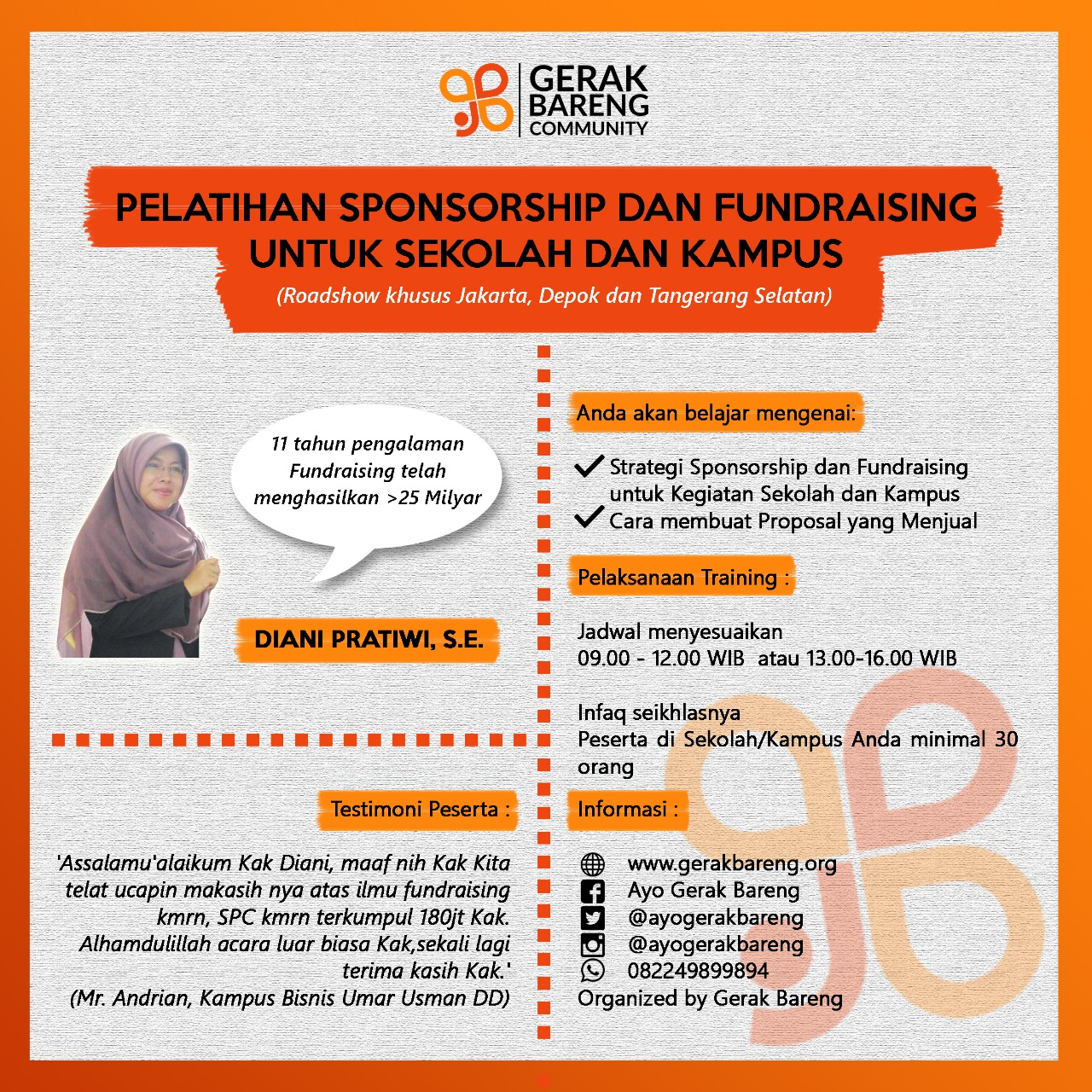 Pelatihan Sponsorship Dan Fundraising