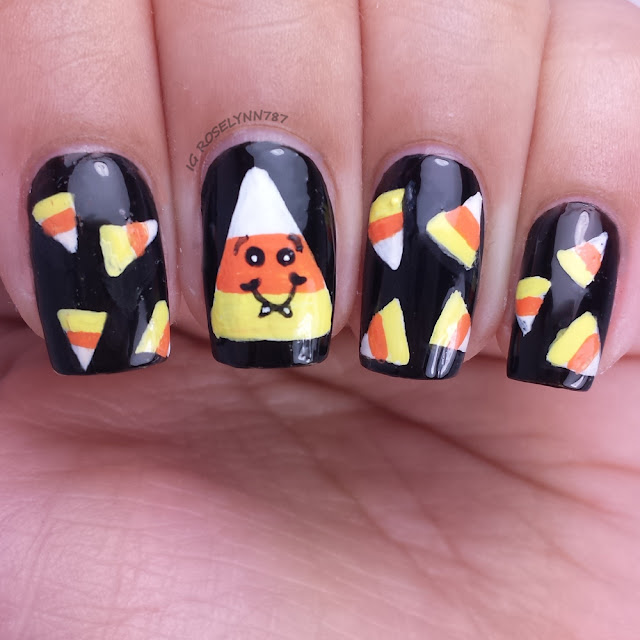 Halloween Nails - Candy Corn