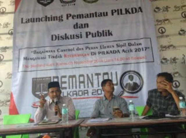 PAKAR Aceh Launching Tim Pemantau PILKADA dan gelar Diskusi Publik